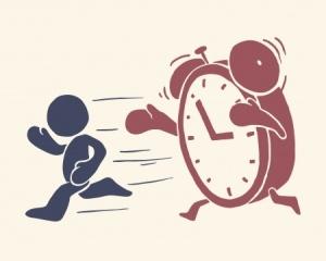 rennende Zeit